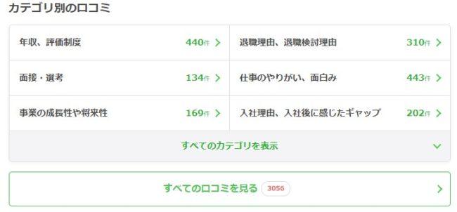 転職会議_カテゴリ別口コミ